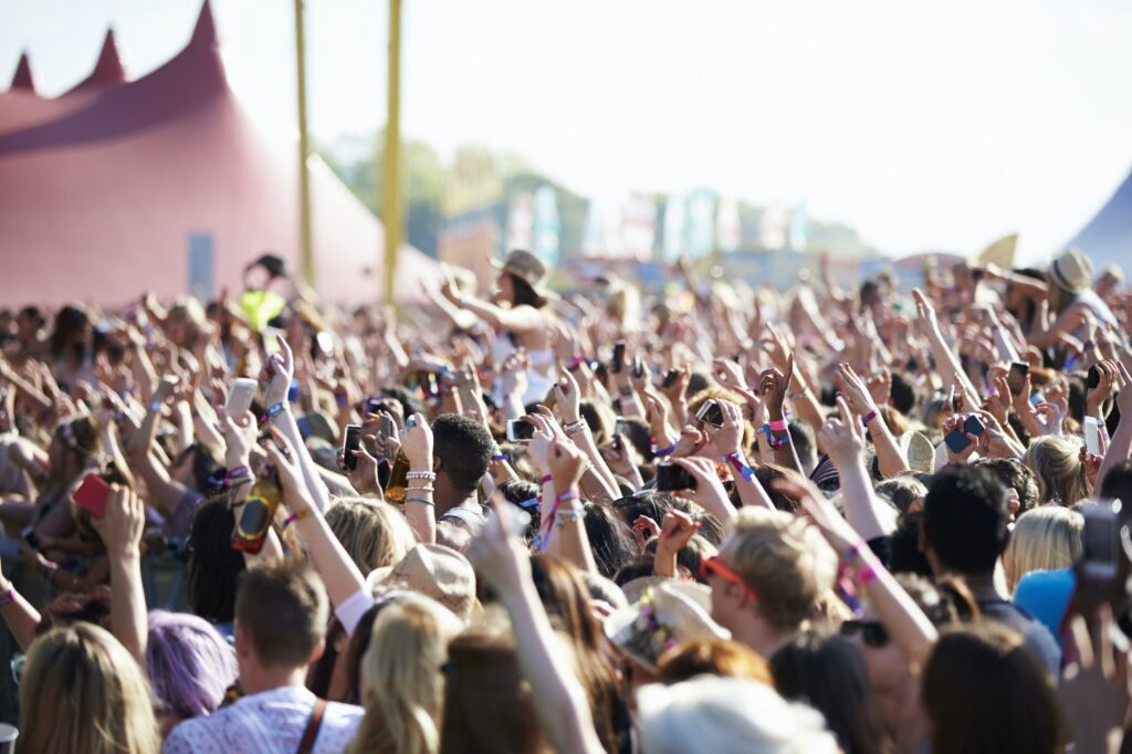Crowed Enjoying Music festival